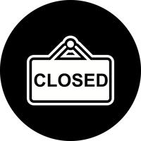 Closed Sign Icon Design