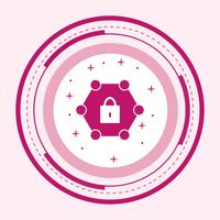 Protected Network Icon Design vector