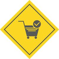 Verifizierte Cart Items Icon Design