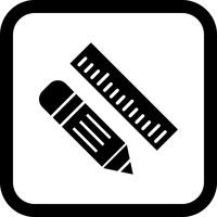 Bleistift & Lineal Icon Design