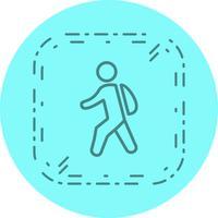 Caminhando para a escola ícone do design