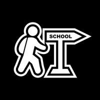 Camminare a scuola Icon Design