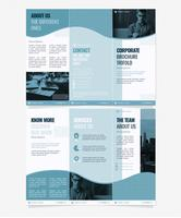 Vector Corporate Trifold Broschyrmall