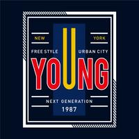 free style urban city typography graphic design t shirt