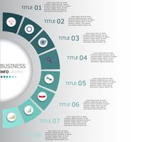Infographics vector ontwerp en marketing pictogrammen