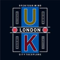 london flag and quote vector design tee for t-shirt