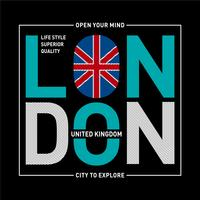 London typografi design tee-shirt grafiskt tryckt