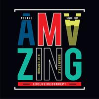 Design vector amazing typography varsity