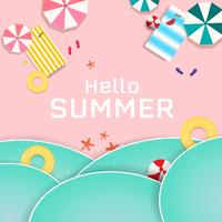 Summer Sale banner and background