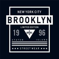 new york city brooklyn typography design for t-shirt