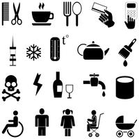 Set van vector iconen