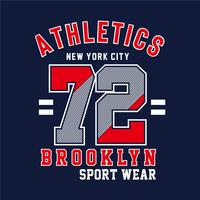 New york city typography fashion sport