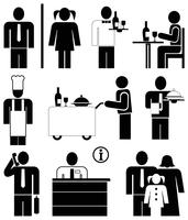 Restaurant pictogrammen