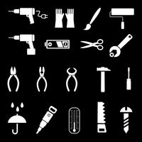 Hand tools - vector icons