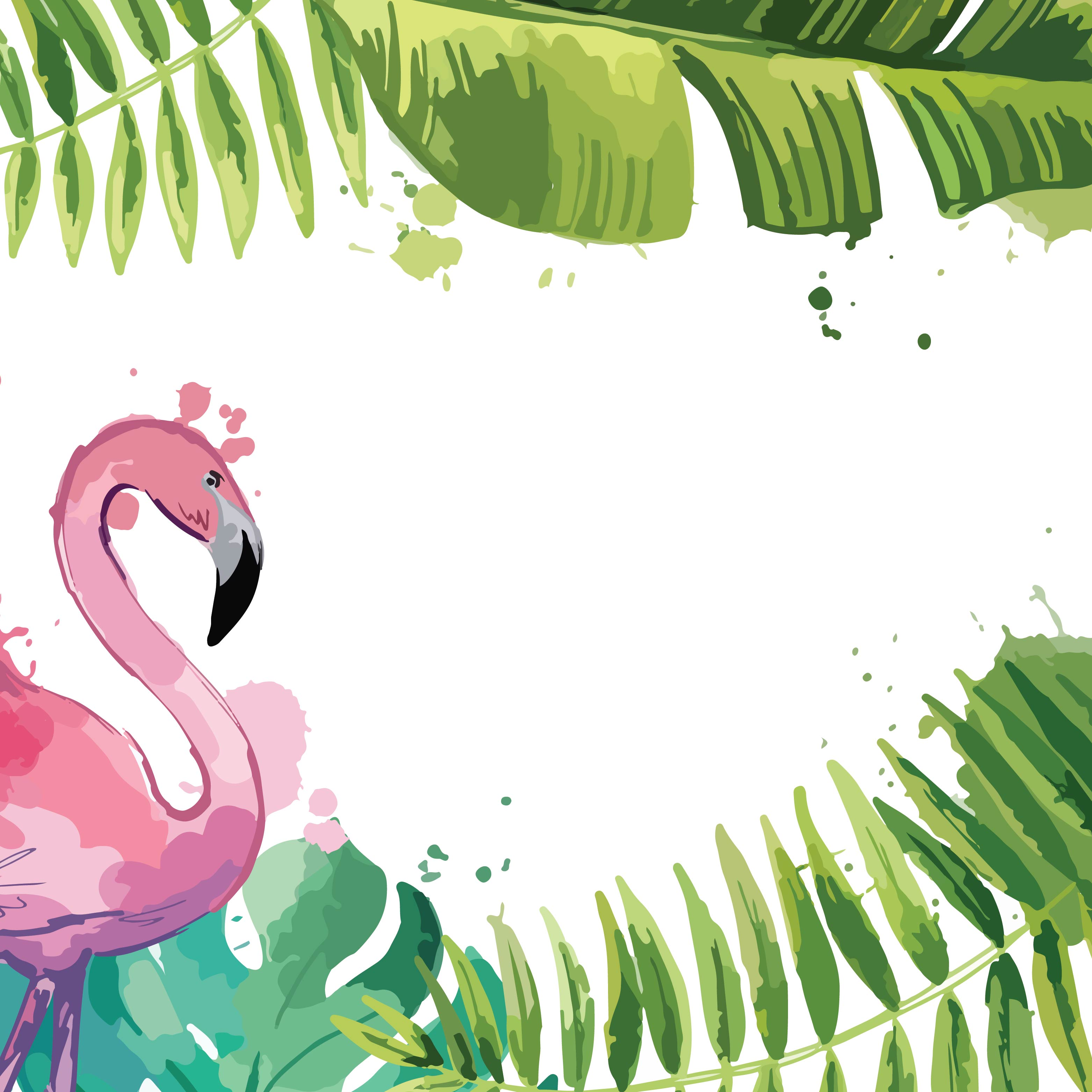 Background With Tropical Leaves And Flamingo Download Free Vectors Clipart Graphics Vector Art Find and download tropical backgrounds wallpapers, total 28 desktop background. tropical leaves and flamingo