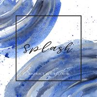 Indigo, Ultra marine color watercolor and gouache background texture banner design splash grunge,space with text print vector illustration wallpaper.