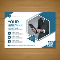 Business cover a4 template and flat icon for a report and brochure design, flyer, banner, leaflets decoration for printing and presentation vector illustration