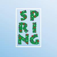 Spring time flowers . Vector ESP10 design.