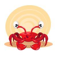Caranguejo marinho vermelho dos desenhos animados