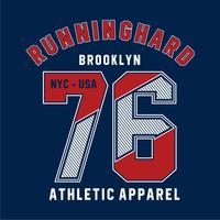 new york city, typografie voor designkleding