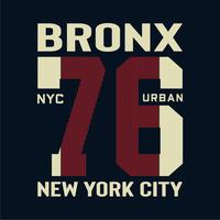 Bronx New York  typography tee graphic design