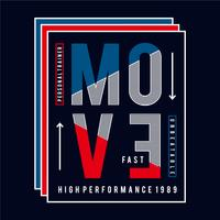 personal trainer move rapid typography t shirt design
