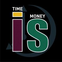 time is money typography graphic design t shirt