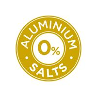 Aluminium salts free icon.