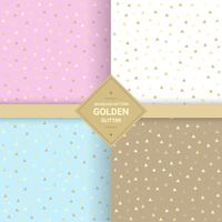 Golden triangle glitter seamless pattern on pastel background. Triangle background for Gift wrap and Fabric patterns. Vector Illustration