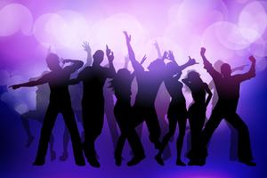Party crowd background vector