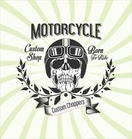 Vintage motorcycle background