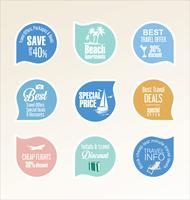 travel badges vector