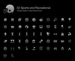 Sport und Freizeit Pixel Perfect Icons Shadow Edition.