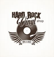 Hard rock vinyl record retro background