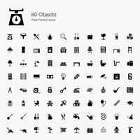 80 Objects Pixel Perfect Icons.
