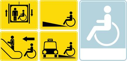 Wheelchair icon set