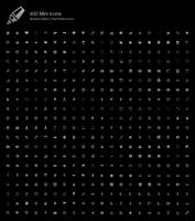 Mini Small Simple Web Pixel Perfekte Symbole Shadow Edition.