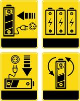 Battery charge - vector icons