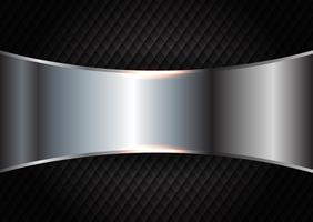 Brushed metal on dark texture background  vector