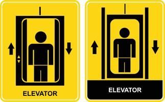 Lift - vector teken, pictogram