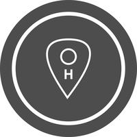 Hospital Location Icon Design