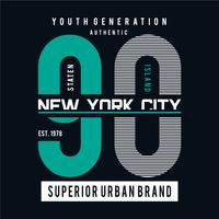 New York city typography graphic art for t-shirt