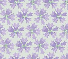 Floral seamless pattern with flower bluebell