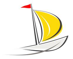 Yacht, sailboat - icon
