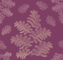 Floral seamless pattern. Leaf retro ornament. Flourish leaves backdrop
