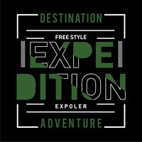 T-Stück, Element, Vintage Expeditionsabenteuer Natur Typografie