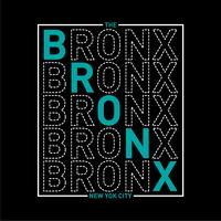 t-shirt la typographie de bronx new york city
