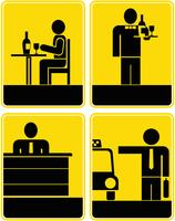 Cafe, Restaurant, Taxi, Rezeption - Symbole