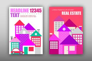 Modern houses, vector magazine template