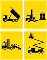Special-purpose trucks - set of vector icons